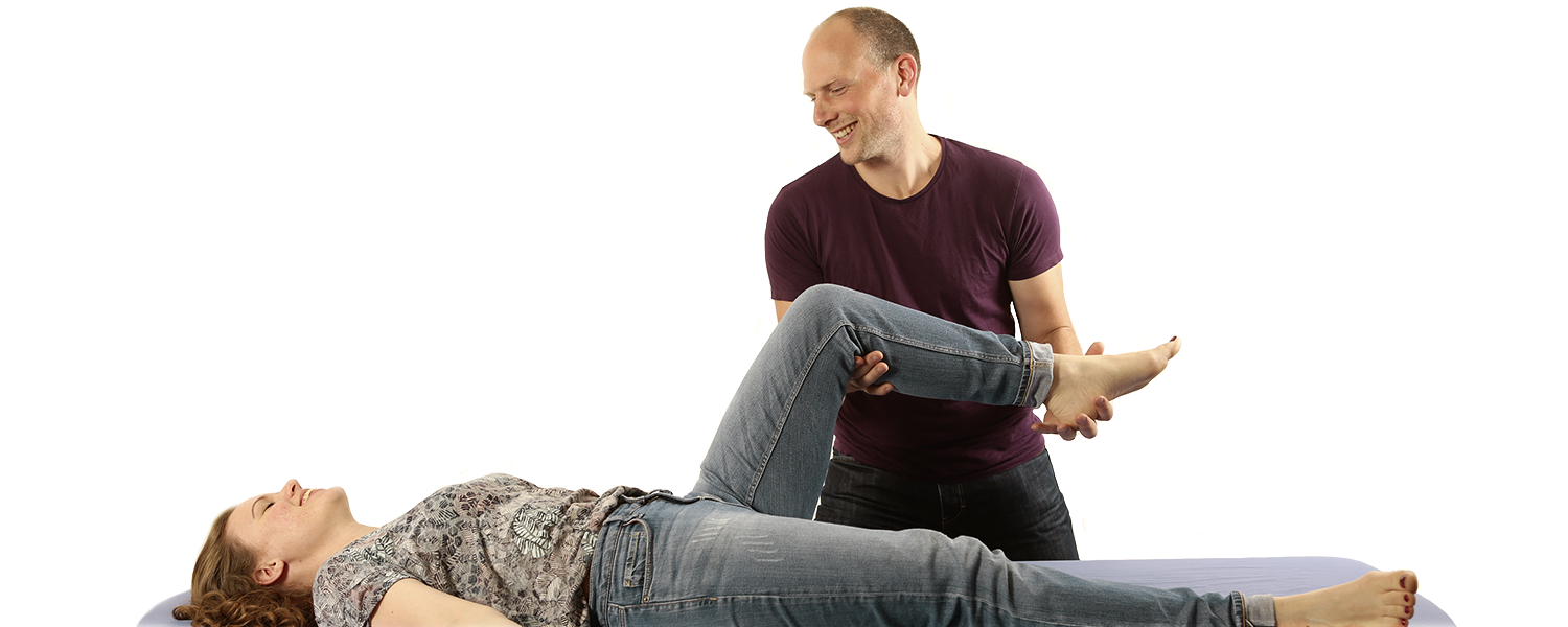 Grinberg practitioner giving his client bodywork therapy